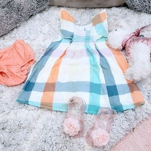Baby Gap Colorful Gingham Dress with Bloomers